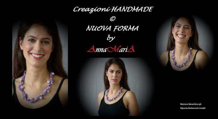COLLANA Viola con le perle artificiali di AnnaMariA su DaWanda.com