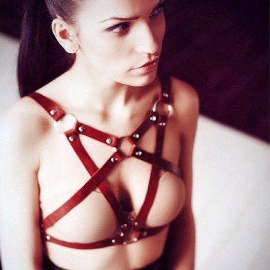 100-handcrafted-handmade-women-punk-gothic-leather-harness-body-bondage-cage-bustier-corset-sculpting-chest-waist-belt
