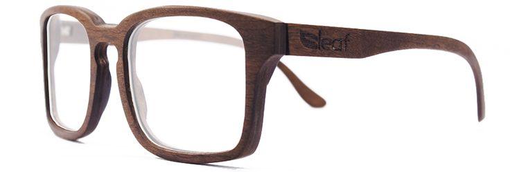 Óculos de grau de madeira Leaf Louis