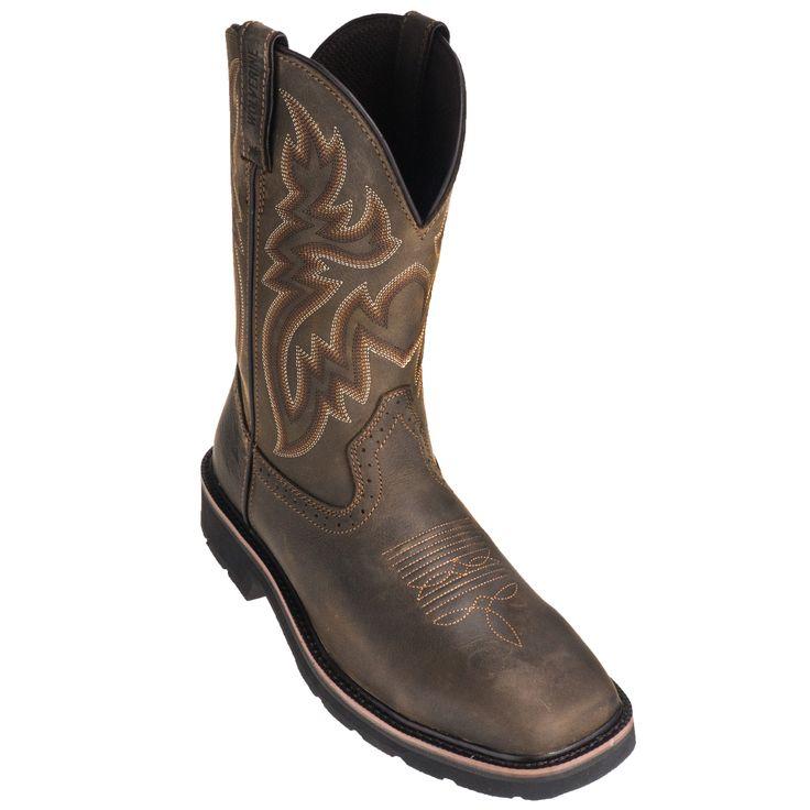 Wolverine Boots Men's 10704 Dark Brown Rancher Slip-Resistant Pull-On Work Boots