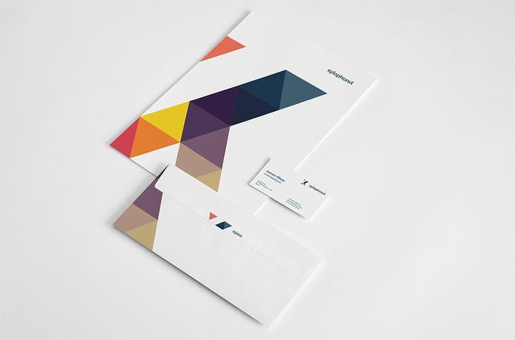 Nice geometric brand identity. Love the color usage. #identity