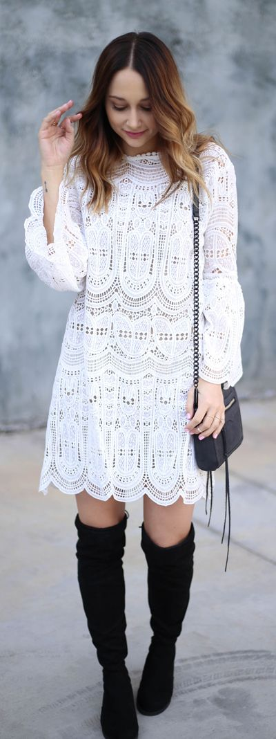 Can you say swoon worthy? This Echo of Exquisiteness is perfect for the gals who love all lace all the time. Echo of Exquisiteness Crochet Dress featured by D's Moments Blog