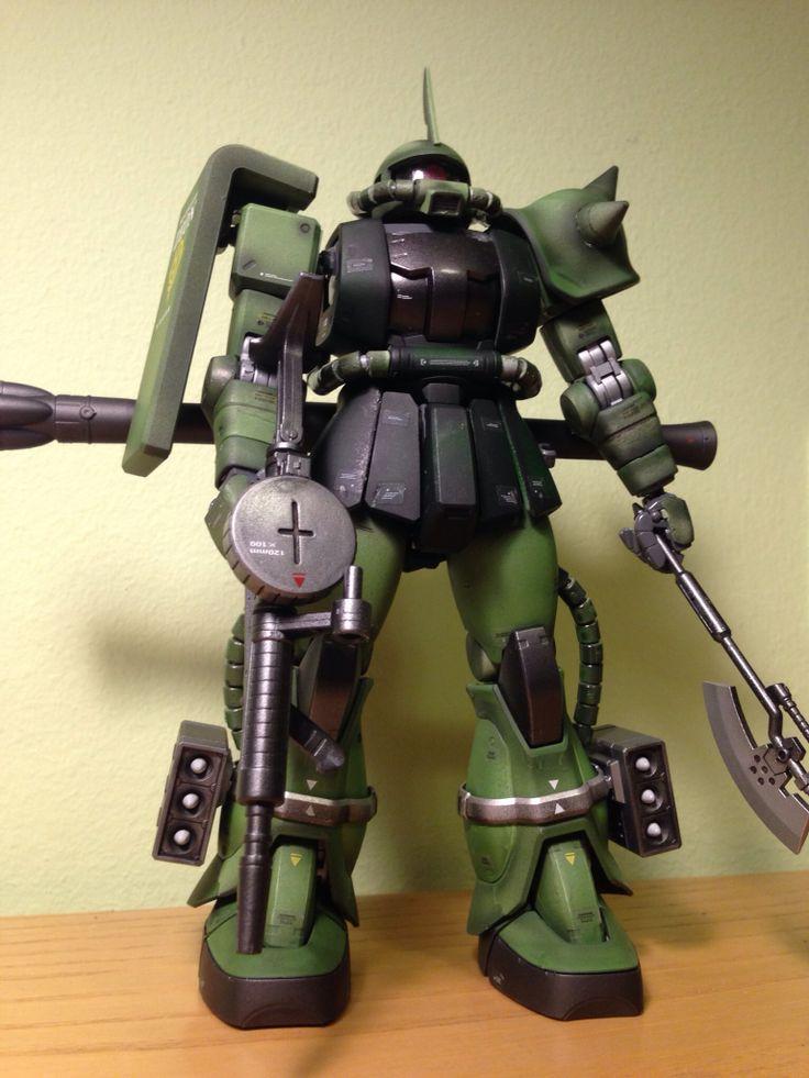 Bandai MG MS-06J Zaku II - airbrushed - 1