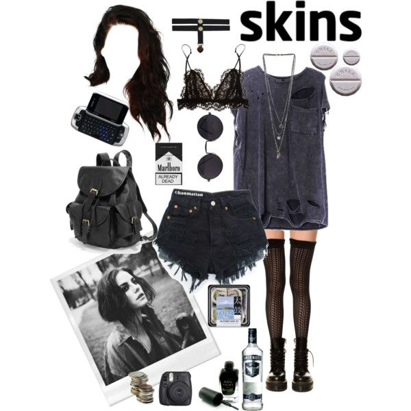 effy stonem by justkatieagain on Polyvore featuring K. Bell, Isabel Marant, AmeriLeather, Miss Selfridge, Barry M and Fuji