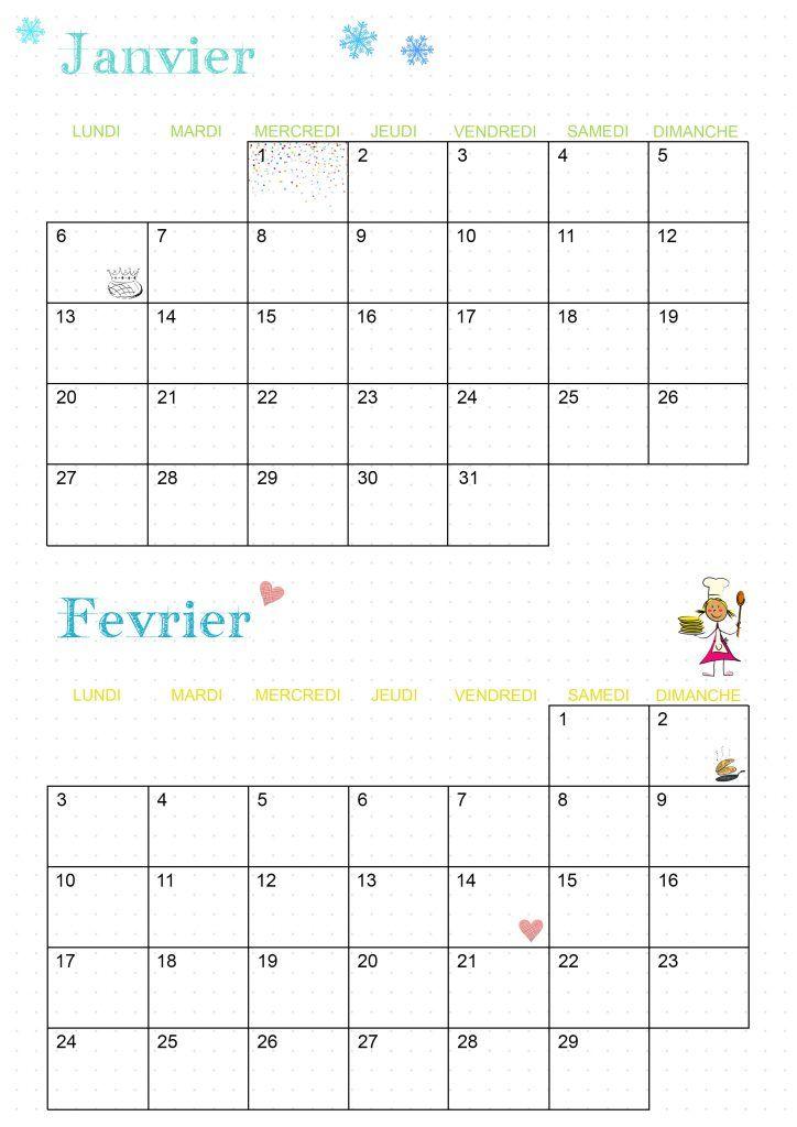 Calendrier 2020   Les activités de maman | Calendrier mensuel