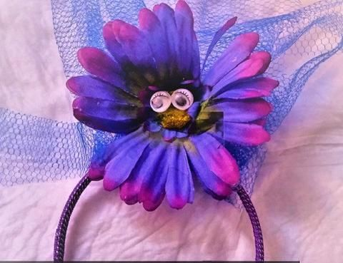 """Mad Hatter Inspired Purple Daisy Headband Purple """"talking flower""""     I'm a Shopify merchant with Buyable Pins and I want a conversion tag. I'm not an advertiser."""