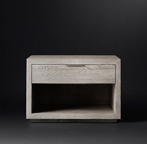 I love this. Not tall enough though. Machinate Open Nightstand $995 | RH Modern