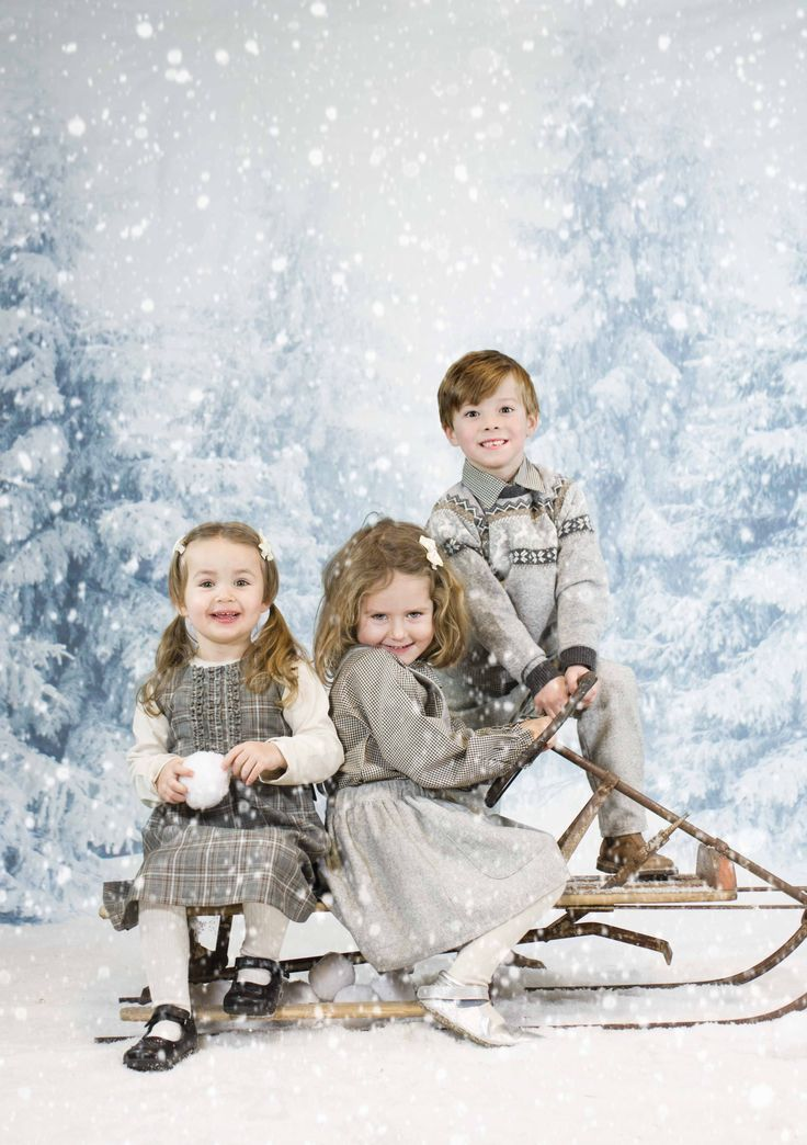 Memini kids photo snow