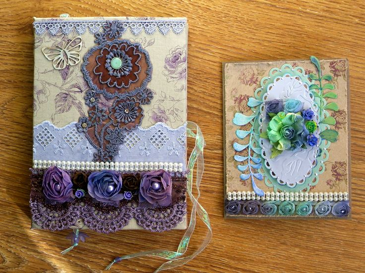 set: notebook and card