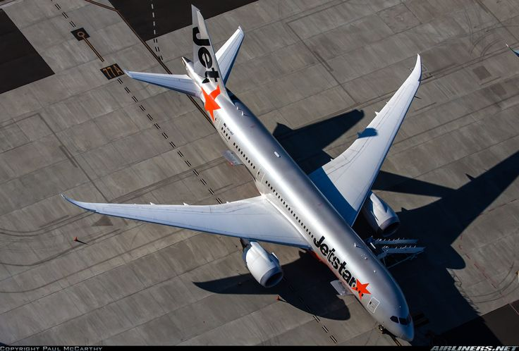 Jetstar Airways Boeing 787-8 Dreamliner VH-VKF parked on the remote stand (77A) at Sydney-Kingsford Smith, May 2015. (Photo: Paul McCarthy)