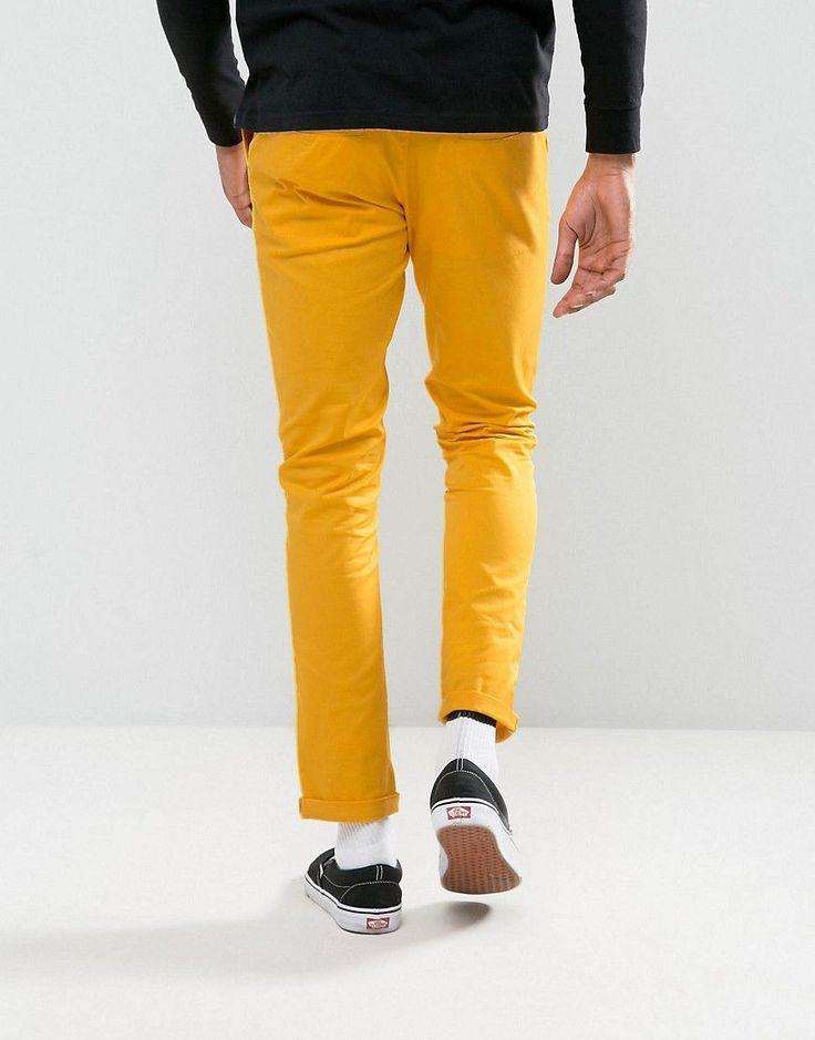 ASOS Skinny Chinos In Yellow - Yellow