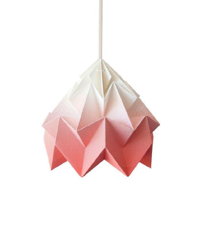 Snowpuppe Moth papieren lamp gradient koraal juneinteriors.com