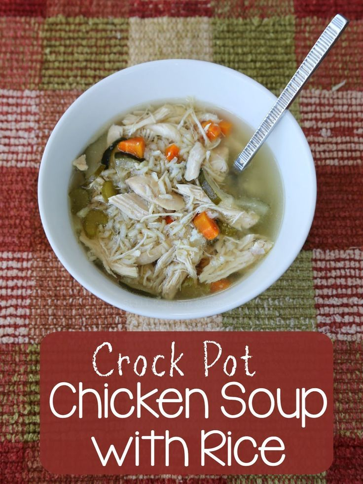Recipe for Chicken Soup with Rice in the Crock Pot