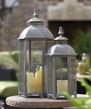 Look at this #zulilyfind! Vintage Lantern Set #zulilyfinds