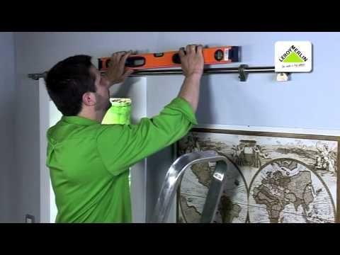 Instalar puerta corredera de cristal (Leroy Merlin) - YouTube