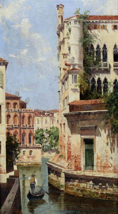 Antonietta Brandeis (Czech, 1848 - 1926): A Venetian Backwater
