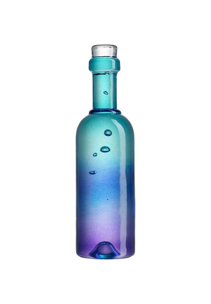 Celebrate Wine sculpture blue, design by Kjell Engman for Kosta Boda