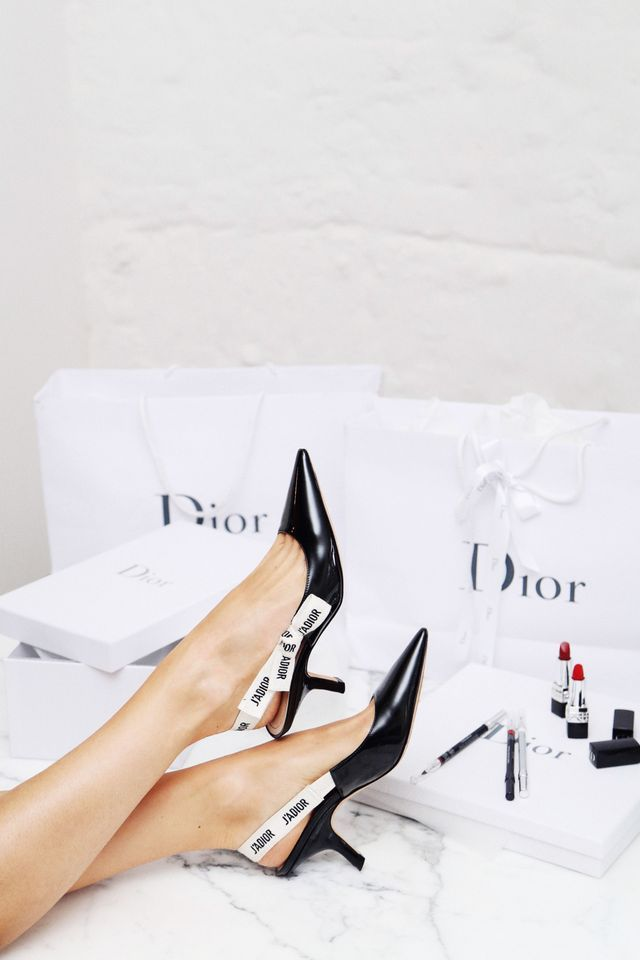 Christian Dior 'J'ADIOR' kitten heel pumps