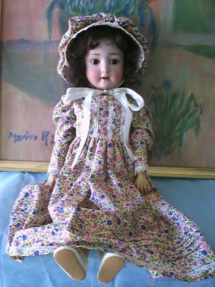 Muñecas Porcelana: MUÑECA ANTIGUA DE PORCELANA ALEMANA, MARCA SIMON & HALBIG.