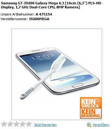 Samsung Galaxy Mega 6.3 e 5.8 già in preordine in Germania   Hardware Upgrade