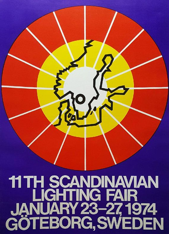 1974 Scandinavian Lightning Fair  Original Vintage Poster