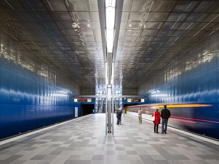Modern design brings a sleek look to the Überseequartier U-Bahn station in Hamburg, Germany. Photograph by Marc-Oliver Schulz, laif/Redux