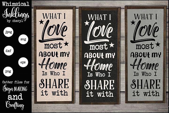 What I Love Most Svg 159701 Svgs Design Bundles My Love Design Bundles Svg