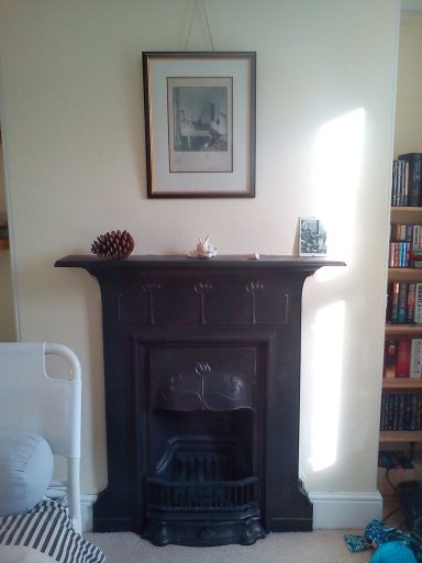 Our Lovely Cast Iron Fireplace In The Main Front Bedroom