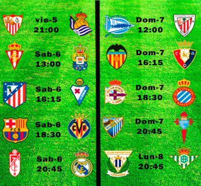 La Liga Full: Horario Jornada 36