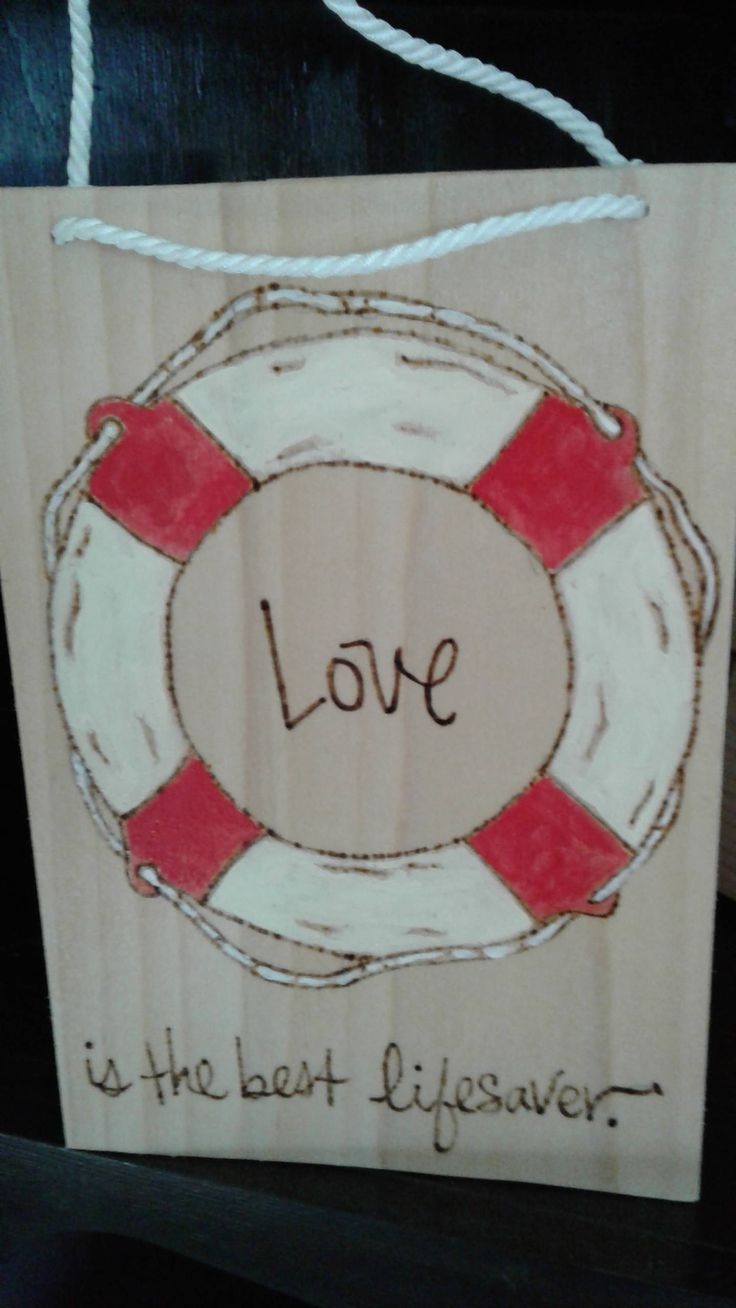 Welcome aboard boat ships life ring clock - Love Is The Best Lifesaver Wooden Sign Life Preserver Ring Wood Burn Letters Handpainted Anniversary Or Wedding Gift Ready To Ship