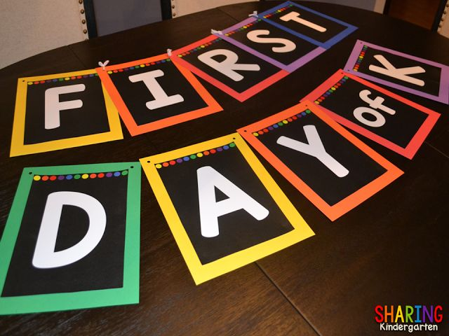 Check out how to make a first day of school banner!
