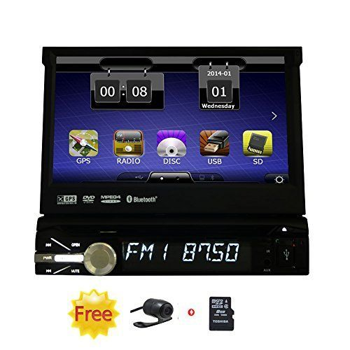 Free Car Reversing Camera  8GB GPS Map Card EinCar Win 6 System Car DVD CD Video Player with Removable Panel 7 Digital Touchscreen Autoradio Bluetooth System Aux Subwoofer Inoutput ** Check out this great product.