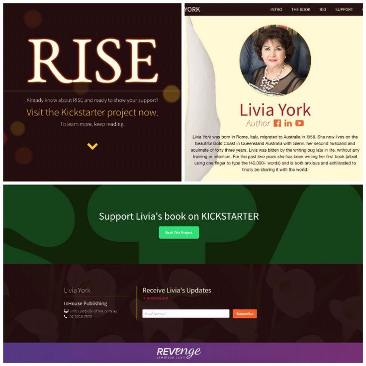 Responsive website design for upcoming author, Livia York www.liviayork.com