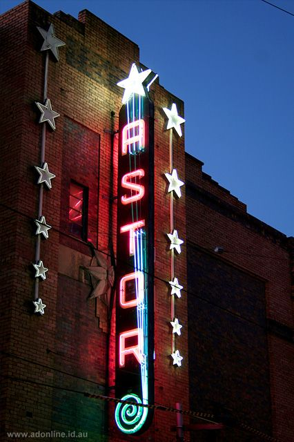 Astor Theatre neon sign | St Kilda | Melbourne, Australia