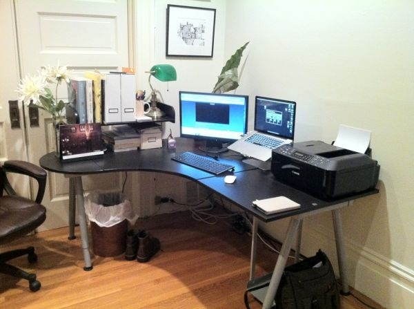 Ikea Home Office Galant home office with ikea galant desk | home decor & details