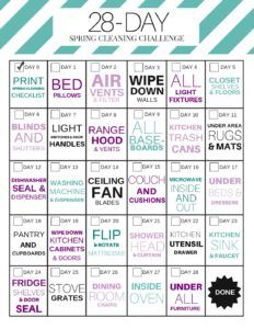 28-Day Spring Cleaning Challenge PDF   The Budget Mom