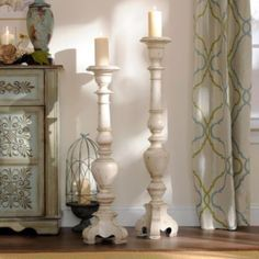 Set the scene with these 36in and 42in classic candle holders! #kirklands #SweetSimplicity