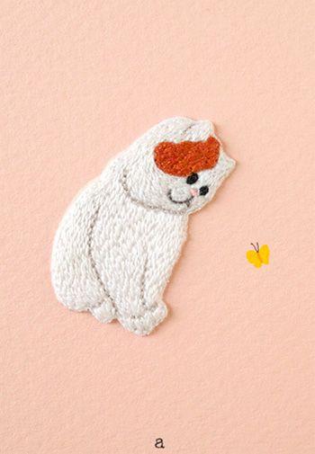 Gifu cat original hand embroidery emblem