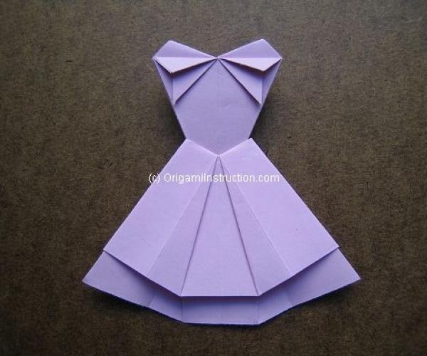 Origami Instruction Trapeze Dress 1 | Origami Instruction.com