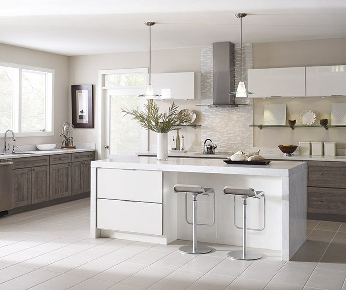 White Kitchen Cabinets High Gloss: Ambra TrueColor High Gloss White And