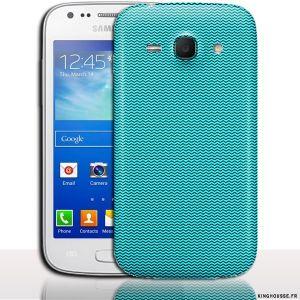 coque galaxy ace 3 Rayures Bleu. #Coque #Samsung #galaxy #Ace #3 #Case #Cover #telephone #portable #design #bleu #originale