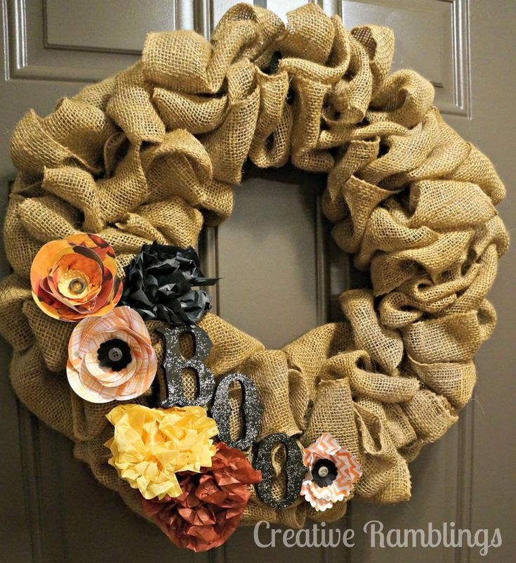Halloween burlap wreath DIY