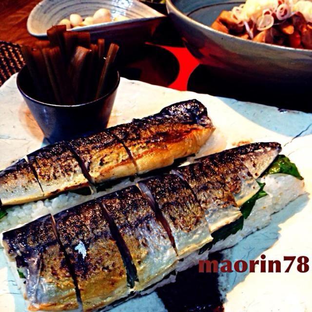 ずっと食べたくて今回チャレンジした 焼き鯖寿司✨ 簡単だけど美味し〜 バーナーで炙るのが怖かったですけどね… - 199件のもぐもぐ - 焼き鯖寿司✨セロリのポン酢漬け (*´艸`) by maorin78