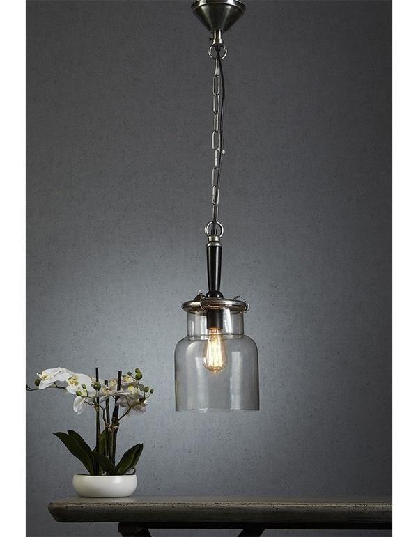 Haiti Silver and Glass Pendant Light