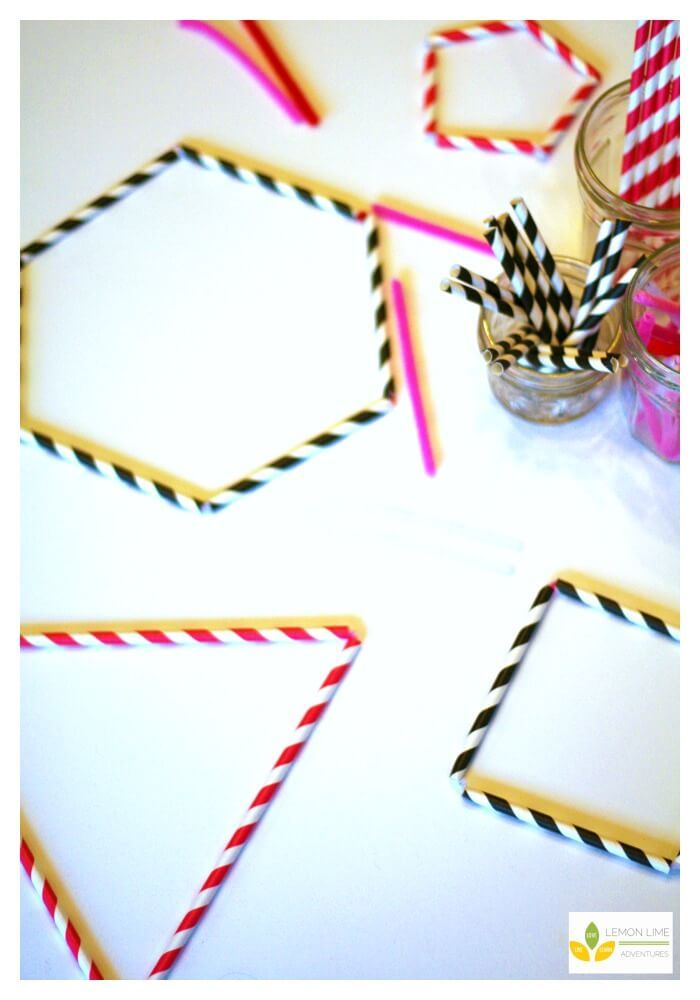 Valentine's Day Polygon Shapes Building Activity via @lemonlimeadv