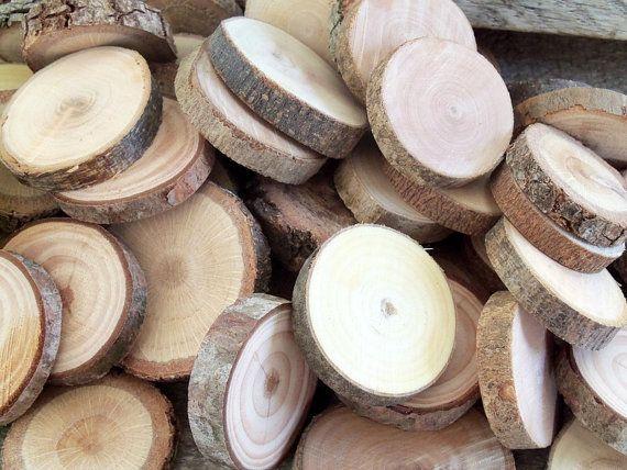 200 Assorted Blank Tree Branch Slices DIY Wedding  Decor 1  1