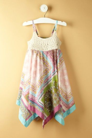 Mimi & Maggie  Handkerchief Blossoms Dress