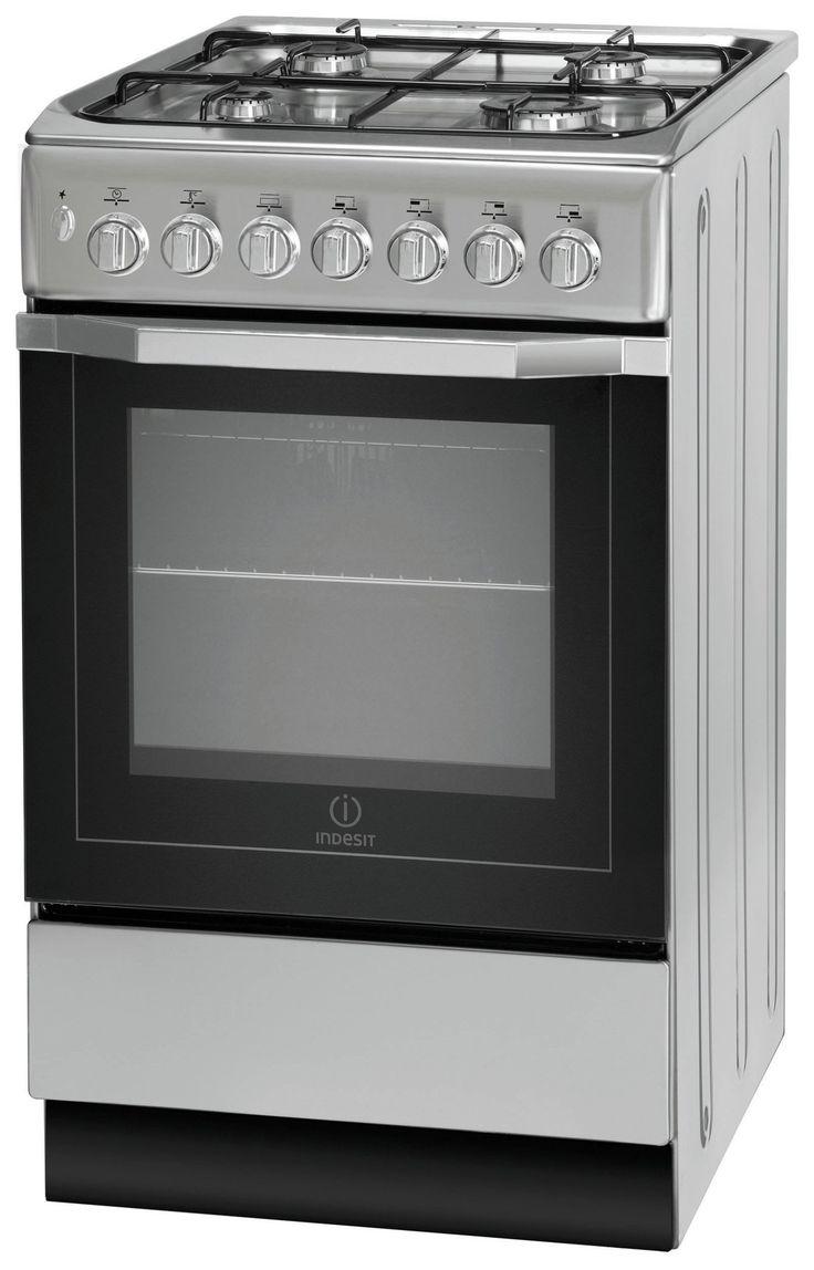 #argos #uk Indesit I5GSH1S Dual Fuel Cooker - Silver.: The Indesit I5GSH1S Dual Fuel cooker in silver comes with a generous 61L… #argosuk
