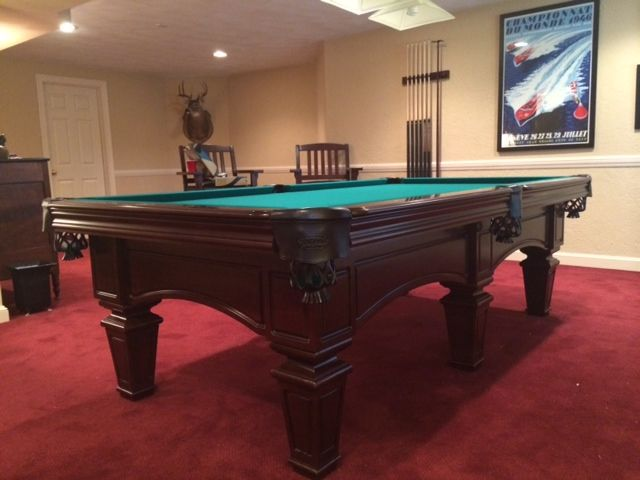 Olhausen bellemeade pool table sold and installed by everything billiards www - Billiard table vs pool table ...
