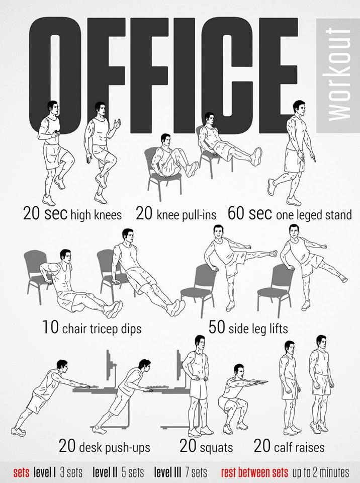 45 Best Office Exercises Images On Pinterest Office
